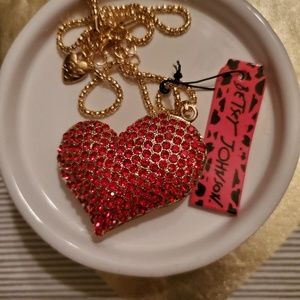 NWT Betsey Johnson Red Heart